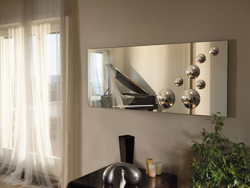 Rectangular wall-mounted mirror LE SFERE | Rectangular mirror by RIFLESSI