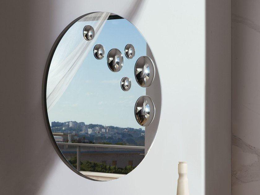 Contemporary style wall-mounted round mirror LE SFERE | Round mirror by RIFLESSI
