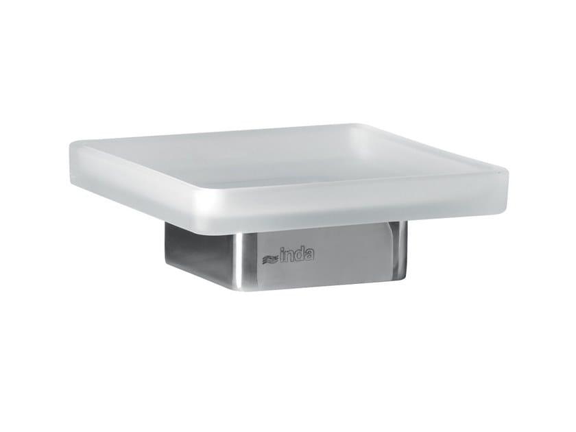 Countertop glass soap dish LEA   Countertop soap dish by INDA®