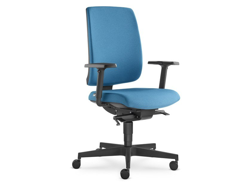 Sedia ufficio ad altezza regolabile in tessuto a 5 razze LEAF 500 SYS by LD Seating