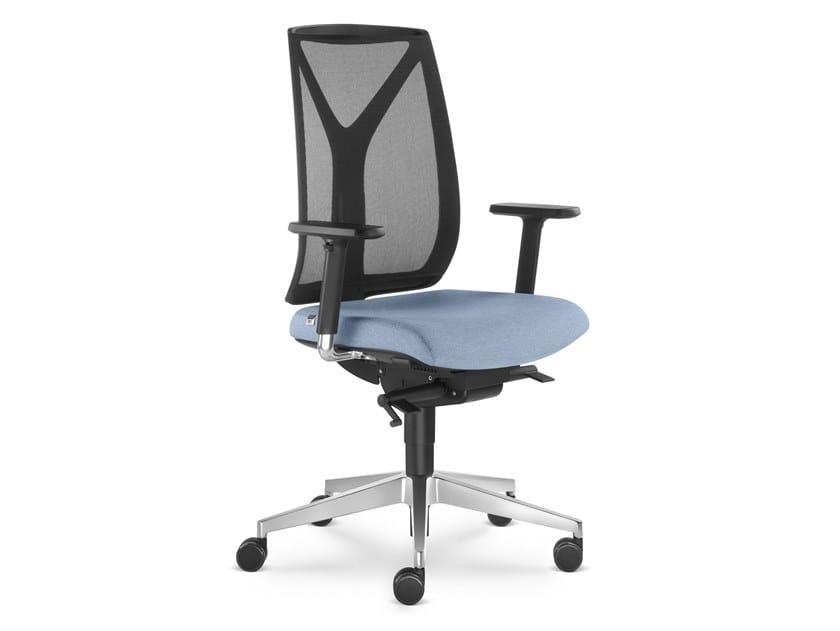 Sedia ufficio in tessuto a 5 razze con braccioli LEAF 503 SYS by LD Seating
