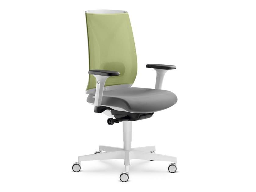 Sedia ufficio ad altezza regolabile in tessuto con braccioli LEAF 504 SYA by LD Seating