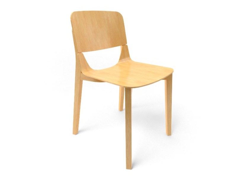 Wooden chair LEAF CHAIR by TON