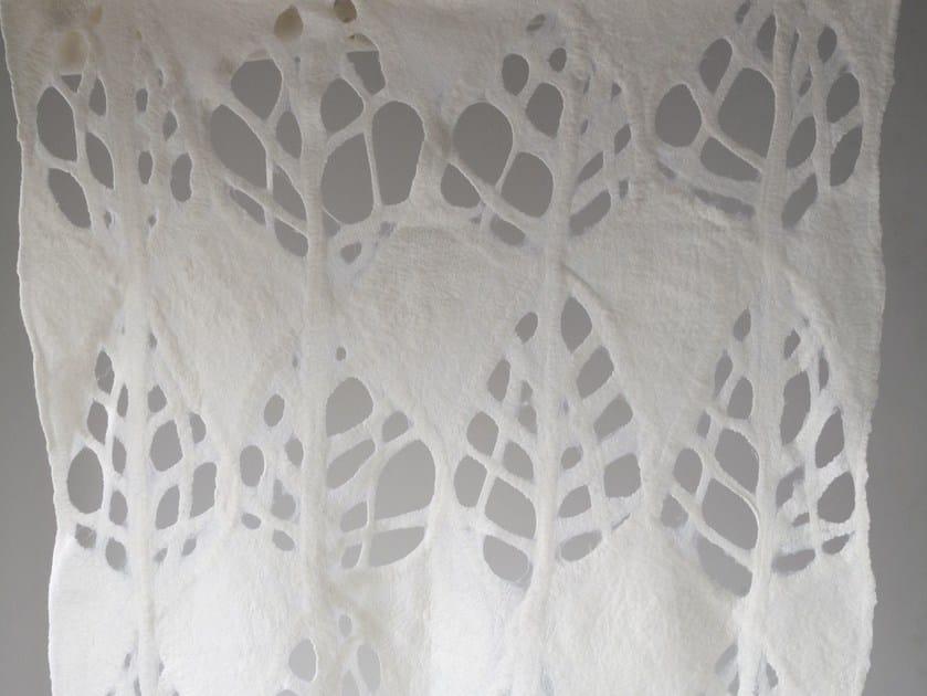 Handmade wool felt lap robe LEAF CUT by Ronel Jordaan™