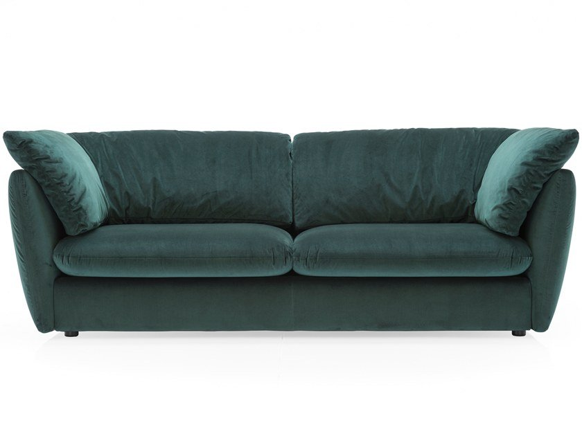 Velvet sofa with removable cover LEAF by Calligaris