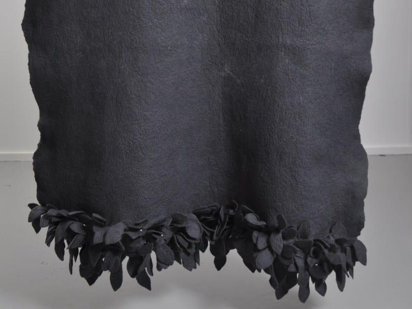 Handmade wool felt lap robe LEAF EDGE DIP DYED by Ronel Jordaan