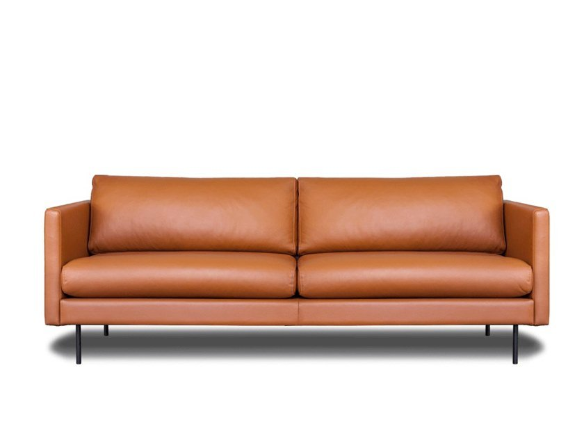Modular 3 Seater Leather Sofa Leaf By Oot
