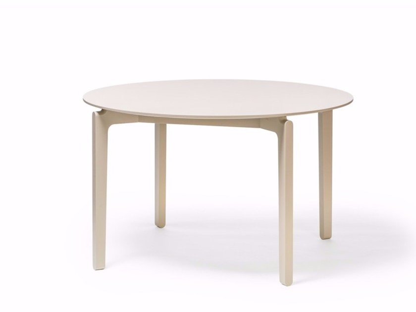 Round wooden table LEAF | Round table by TON