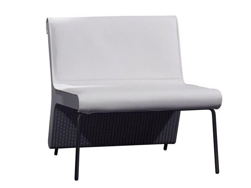 Imitation leather armchair LEAF by Staygreen