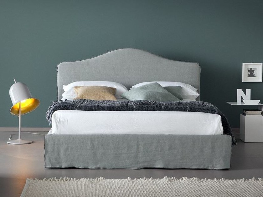 Linen bed with removable cover LEANDRO by Chaarme