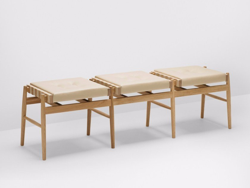 Upholstered modular bench LEATHER | Bench by H Furniture