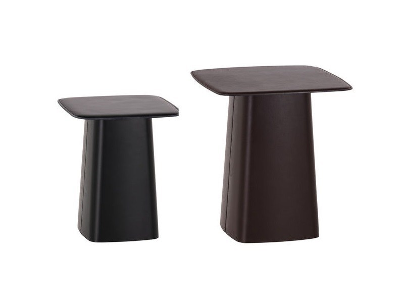 Round coffee table LEATHER SIDE TABLE by Vitra