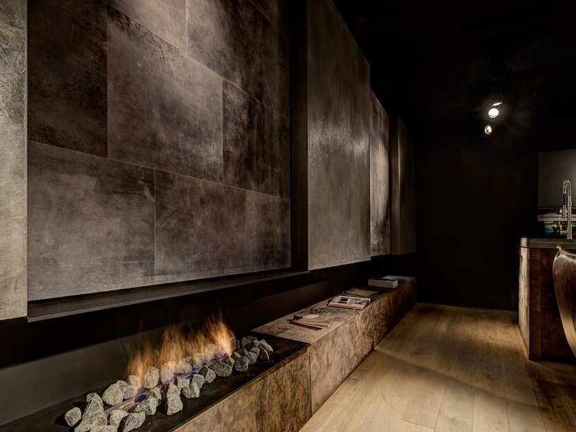 Leather wall/floor tiles LEATHER TILES FOR FLOOR & WALLS by Freund GmbH