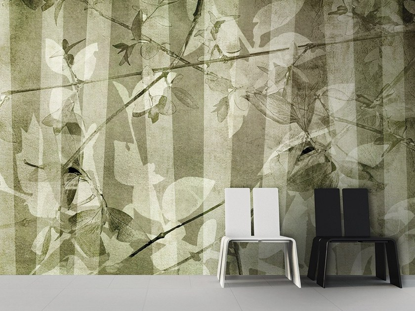Vinyl or fyber glass wallpaper LEAVES by N.O.W. Edizioni