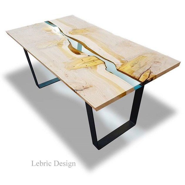 Wooden contract table DANUBIO IN CEDRO | Resin table by ANTICO TRENTINO