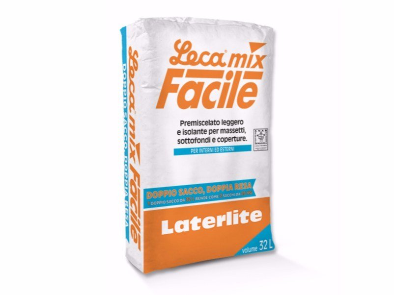 Pre-mixed screed LECAMIX FACILE by Laterlite