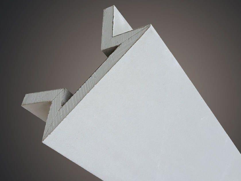 Profilo LED angolo sezione inclinata LED 005 by Profilgessi
