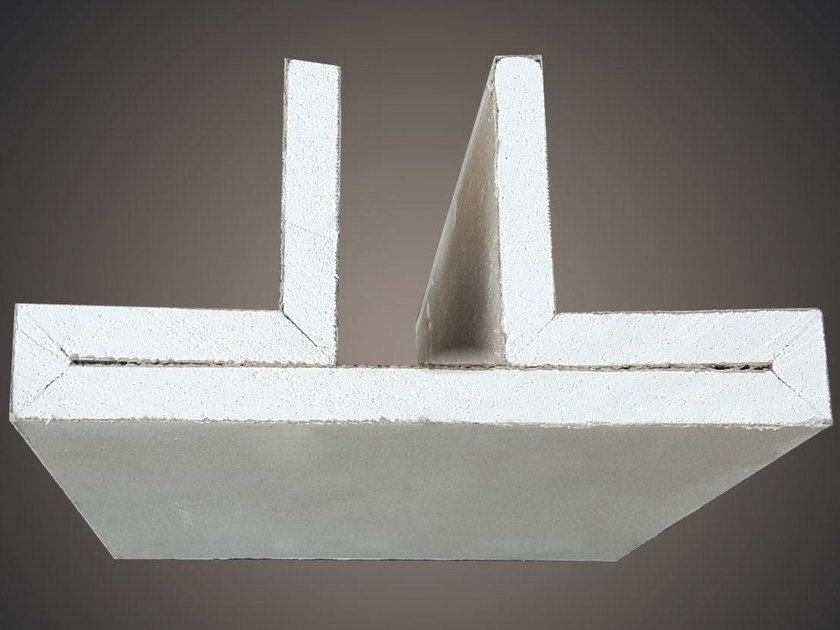 Ceiling mounted gypsum lighting profile LED 006 by Profilgessi