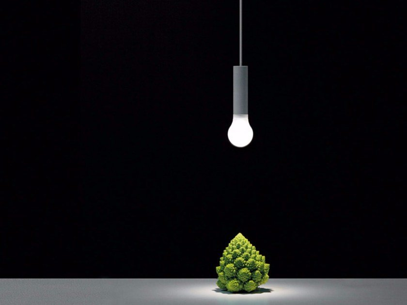 LED methacrylate and metal pendant lamp LED IS MORE by DAVIDE GROPPI