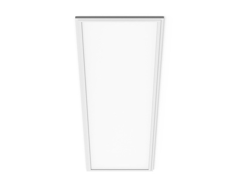 Contemporary style LED direct-indirect light recessed aluminium ceiling light LED PANEL R by LANZINI