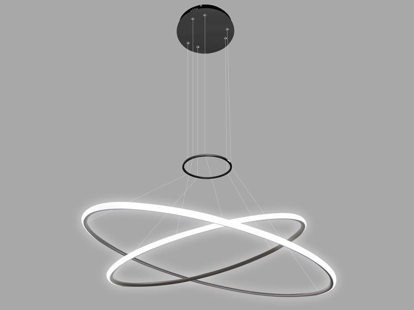 Lampada a sospensione a LED in alluminio LED RINGS NO. 2 by Altavola Design