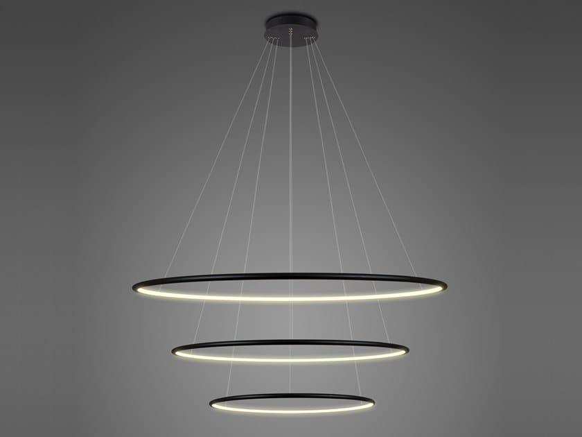 Lampada a sospensione a LED in alluminio LED RINGS NO.3 by Altavola Design