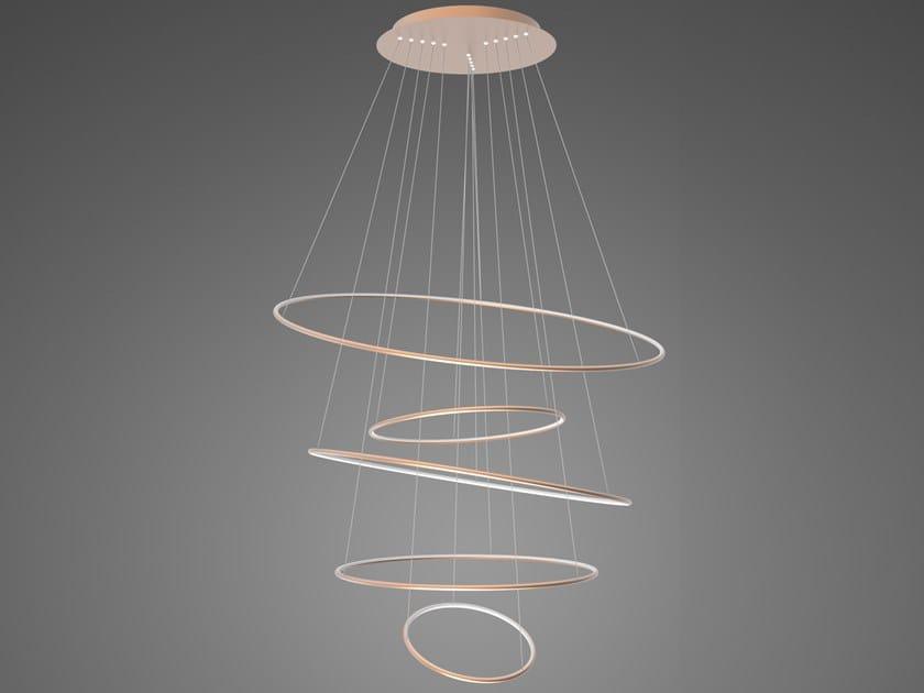 Lampada a sospensione a LED in alluminio LED RINGS NO.5_180 by Altavola Design