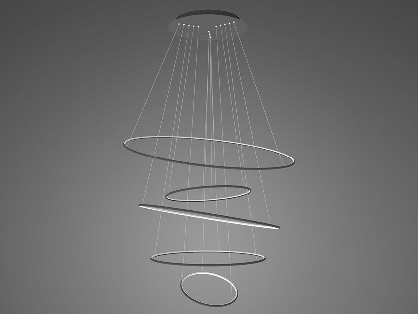Lampada a sospensione a LED in alluminio LED RINGS NO.5 by Altavola Design