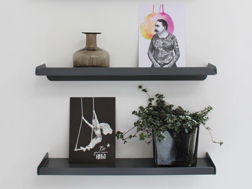Powder coated steel wall shelf LEDGE by Anne Linde