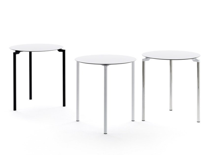 Stackable round table LEG 03 by Urbantime