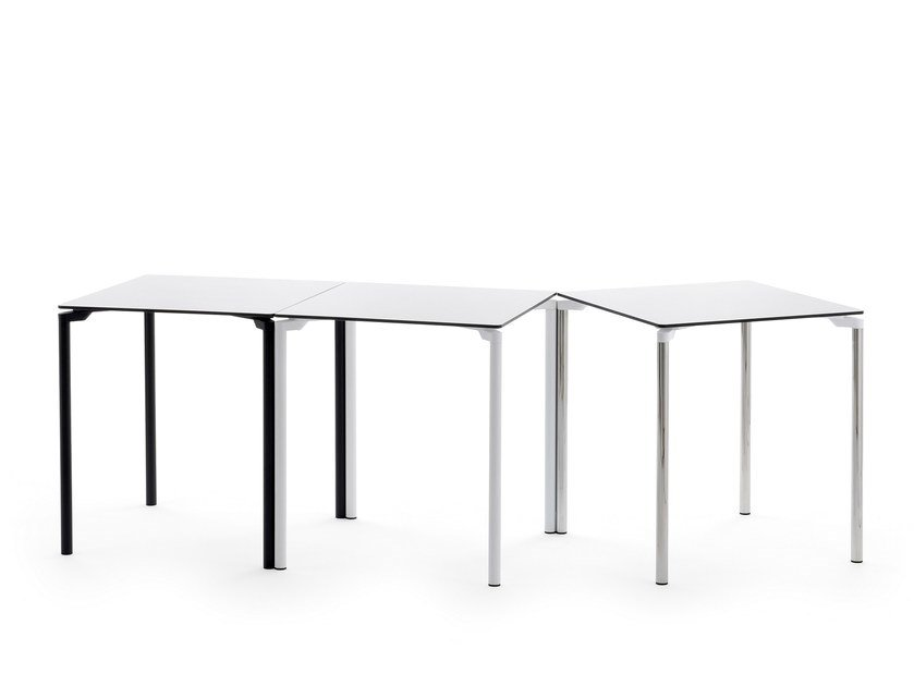 Stackable square table LEG 04 by Urbantime