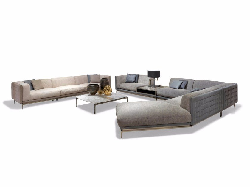 Corner sectional fabric sofa LEGEND | Corner sofa By ...