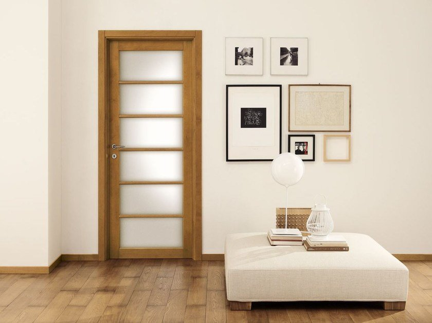 Wood and glass door LEGNI & LACCHE by LEGNOFORM