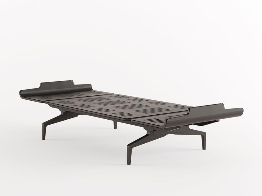 Lit simple en aluminium et bois LEGNOLETTO 090 - LL1_090 by Alias