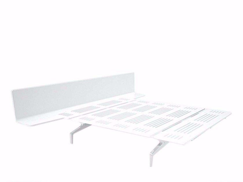 Aluminium and wood double bed LEGNOLETTO 160 - LL8_160 by Alias