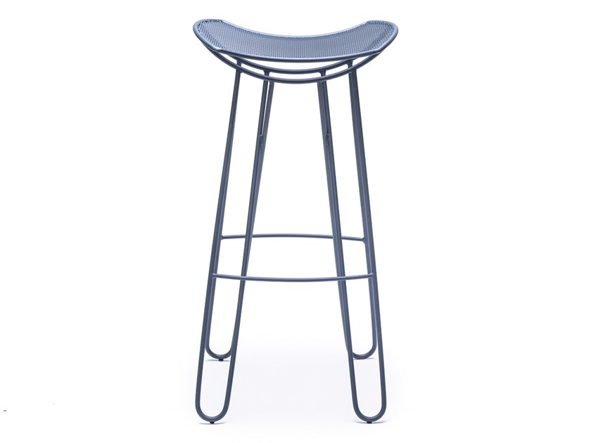 High metal stool with footrest LEI by Garda Furniture