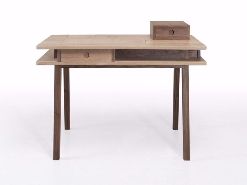 Solid wood secretary desk / dressing table LEI by Wewood