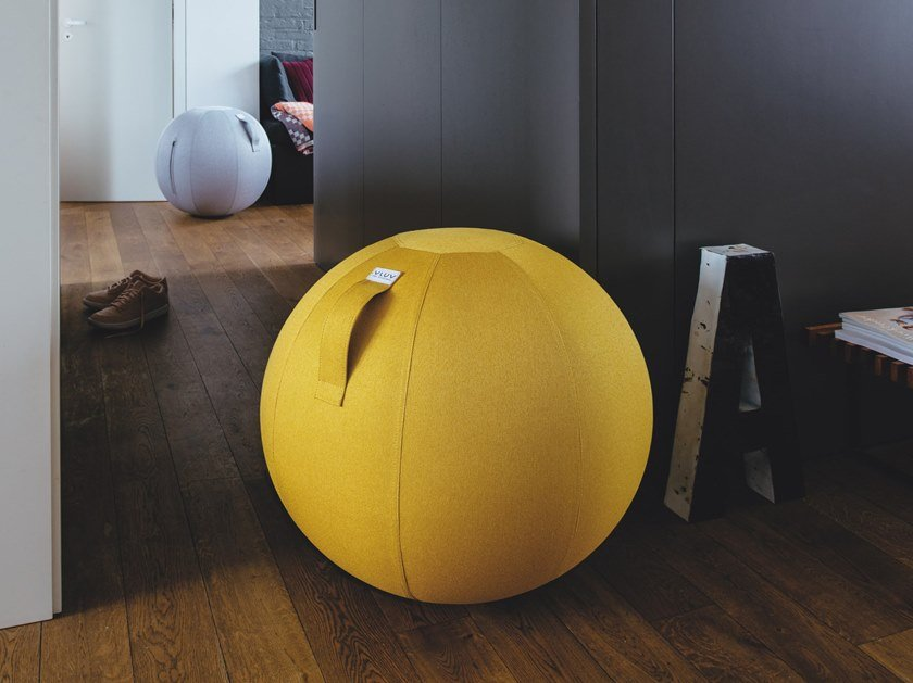 Inflatable polyester pouf with removable lining LEIV by VLUV