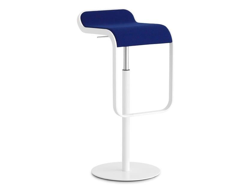 High swivel upholstered stool LEM | Stool by Lapalma