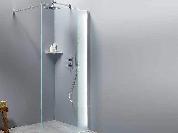 Pareti Per Doccia In Vetro : Parete per doccia in vetro con led lembron glassolutions