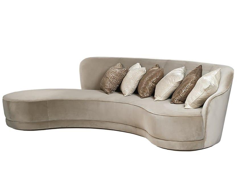 4 seater velvet sofa LEMMA by Paolo Castelli