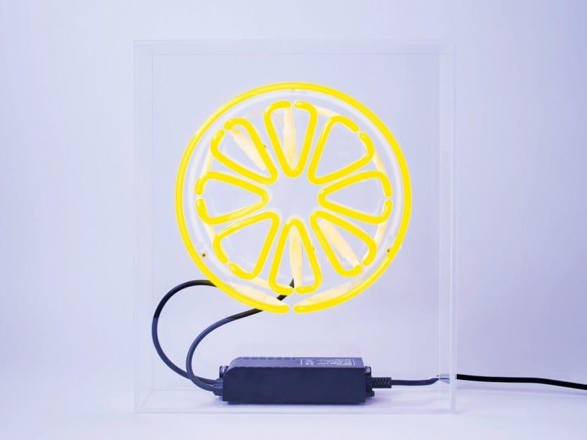 Neon table lamp LEMON by sygns