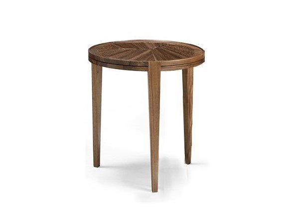 Round walnut coffee table LEONARDO L1030N | Walnut coffee table by Arte Brotto