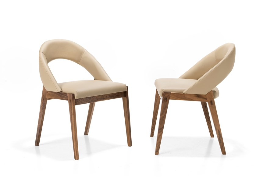 Upholstered open back chair LEONARDO L34N | Chair by Arte Brotto