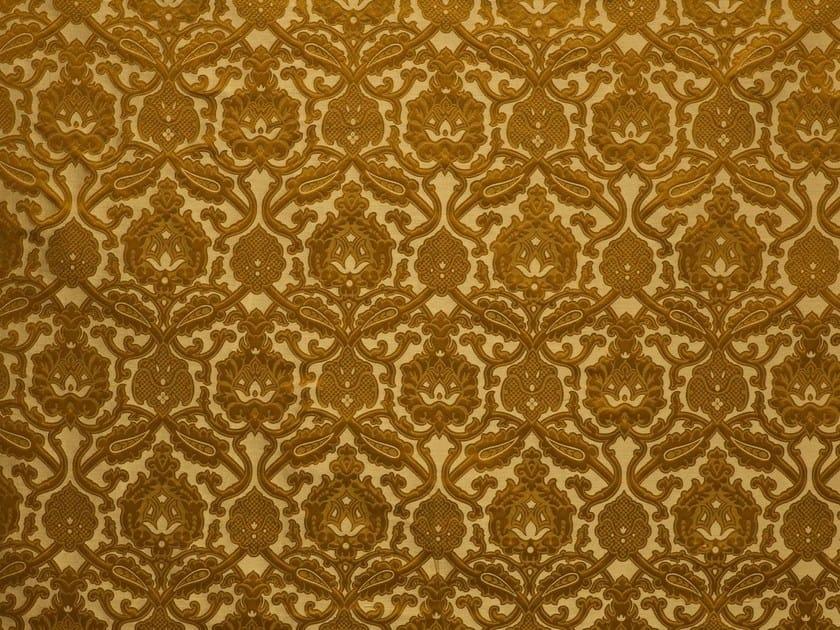Damask jacquard silk fabric LEONARDO by LELIEVRE