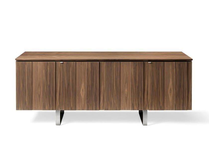 Walnut sideboard with doors LEONARDO L413N | Sideboard by Arte Brotto