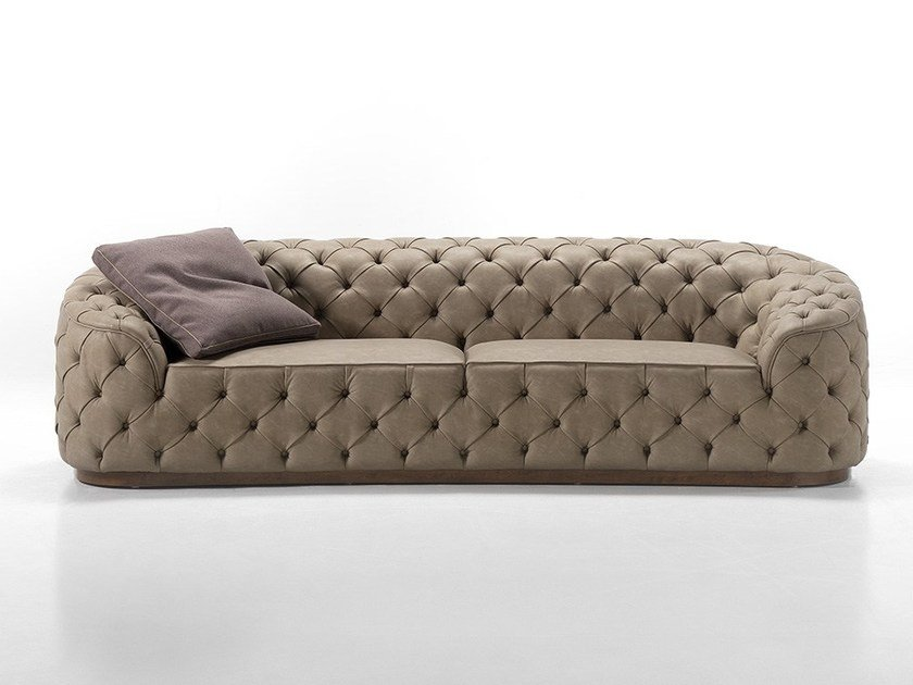 Tufted leather sofa LEONARDO | Sofa by Gold Confort
