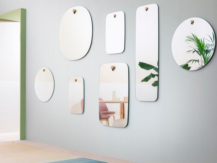 Wall-mounted mirror LES BROTHERS by Miniforms