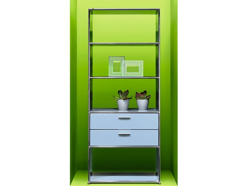 Open tall office shelving LES COULEURS LE CORBUSIER | Office shelving by Bosse
