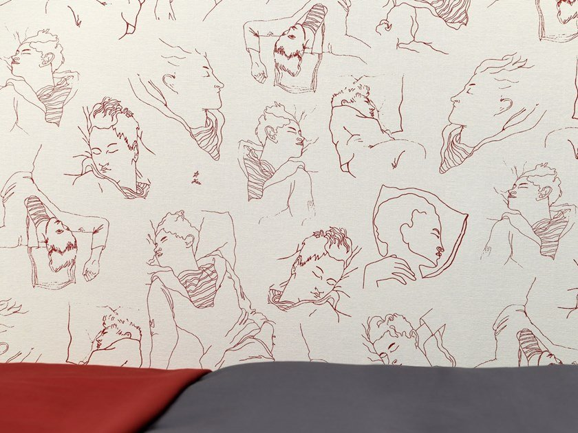 Nonwoven wallpaper LES DORMEURS by LELIEVRE